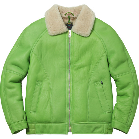 Supreme®/Schott® Shearling Bomber (Lime Green)