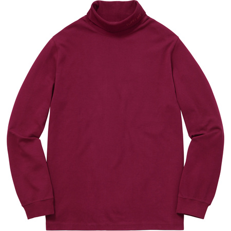 Solid L/S Turtleneck (Burgundy)