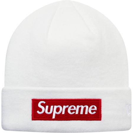 New Era® Box Logo Beanie (White)
