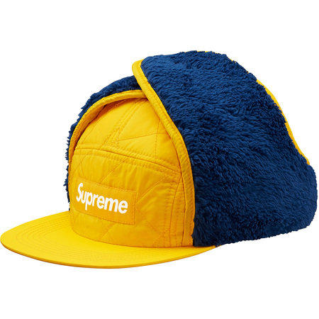 Quilted Earflap Camp Cap (Yellow)