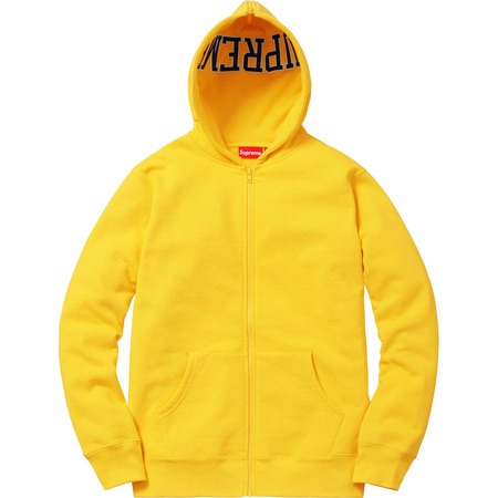Split Hood Zip Up Sweat (Yellow)