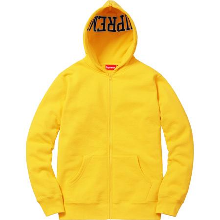 Split Hood Zip Up Sweat (Yellow)