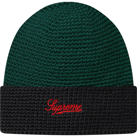 2-Tone Wool Beanie (Green)