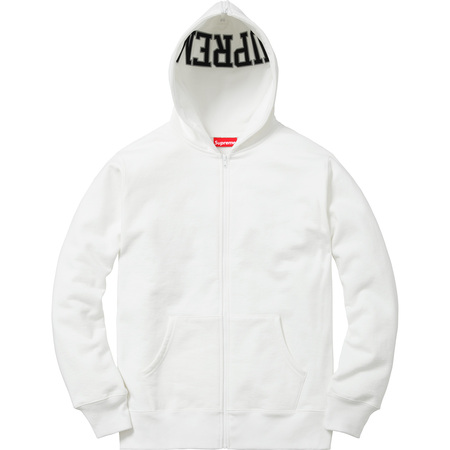 Split Hood Zip Up Sweat (White)