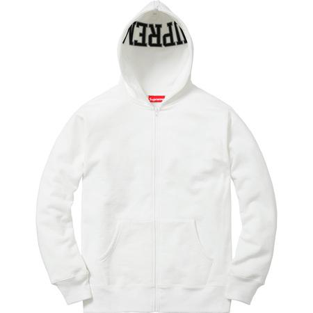 Split Hood Zip Up Sweat (White)