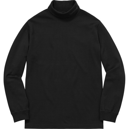 Solid L/S Turtleneck (Black)
