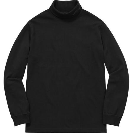 Solid L/S Turtleneck (Black)