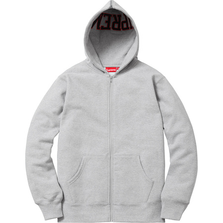 Split Hood Zip Up Sweat (Heather Grey)