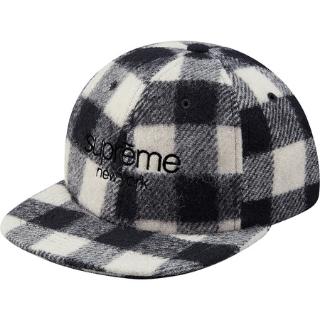 Buffalo Plaid Wool Classic Logo 6-Panel (White)