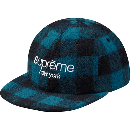 Buffalo Plaid Wool Classic Logo 6-Panel (Blue)