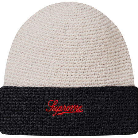 2-Tone Wool Beanie (Off White)