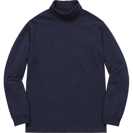 Solid L/S Turtleneck (Navy)