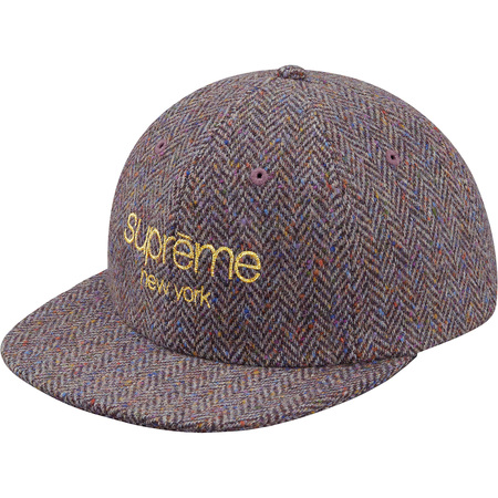 Wool Herringbone Classic Logo 6-Panel (Purple)