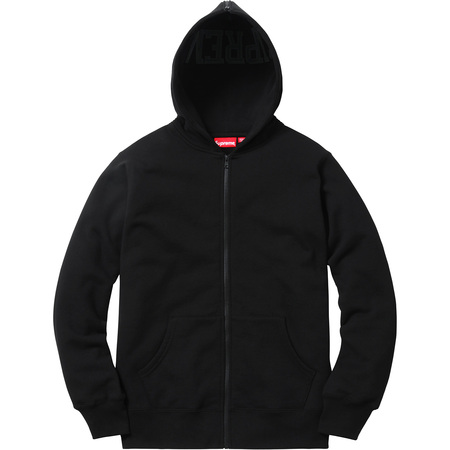 Split Hood Zip Up Sweat (Black)