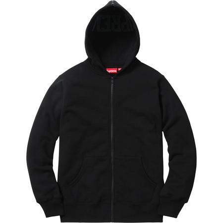 Split Hood Zip Up Sweat (Black)