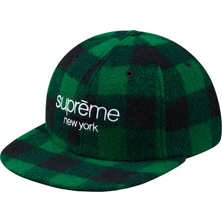Buffalo Plaid Wool Classic Logo 6-Panel (Green)