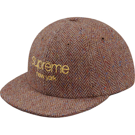 Wool Herringbone Classic Logo 6-Panel (Brown)