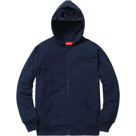 Split Hood Zip Up Sweat (Navy)
