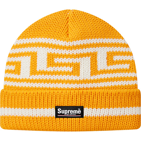 Meandros Ragg Wool Beanie (Gold)