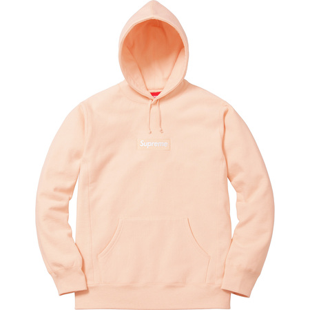 Box Logo Hooded Sweatshirt (Peach)