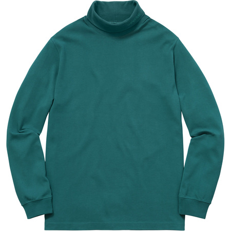 Solid L/S Turtleneck (Teal)