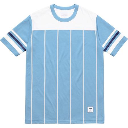 Pinstripe S/S Football Top (Light Blue)