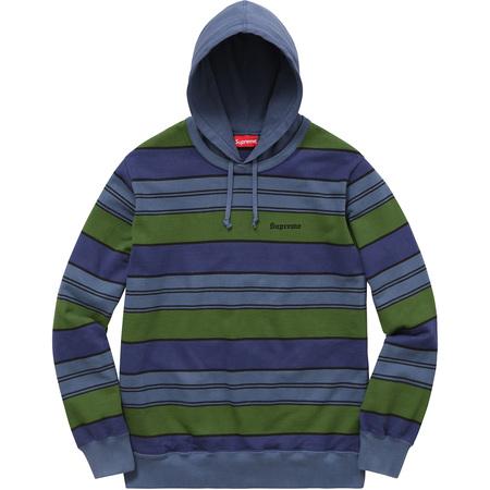 Striped Hooded Crewneck (Royal)