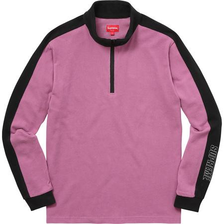 Sleeve Stripe L/S Half Zip Top (Dusty Purple)