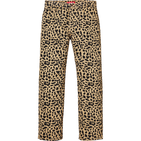 Washed Regular Jeans (Cheetah)