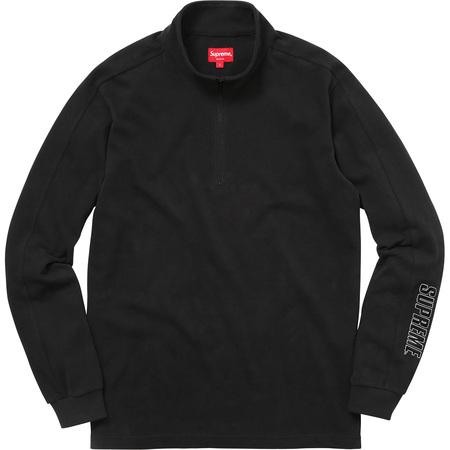 Sleeve Stripe L/S Half Zip Top (Black)