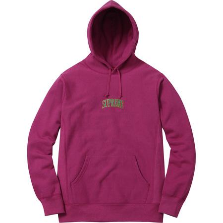 Glitter Arc Hooded Sweatshirt (Magenta)