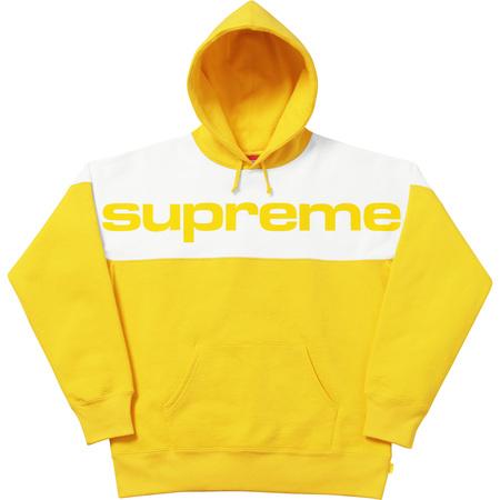 Blocked Hooded Sweatshirt (Yellow)