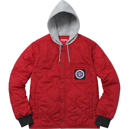 Quilted Liner Hooded Jacket (Dark Red)