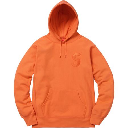 Tonal S Logo Hooded Sweatshirt (Bright Orange)