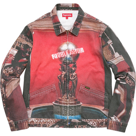 """Scarfaceâ""""¢ The World Is Yours Denim Jacket (Multi)"""