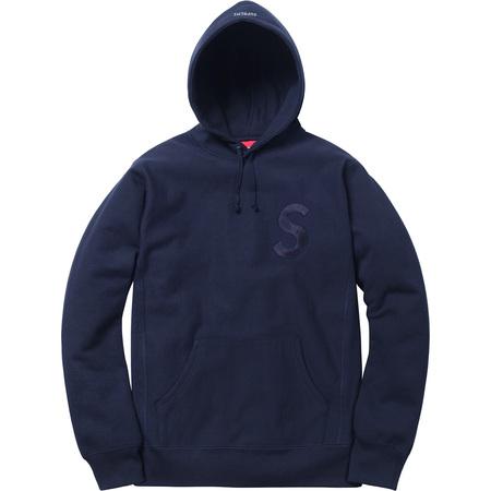 Tonal S Logo Hooded Sweatshirt (Navy)