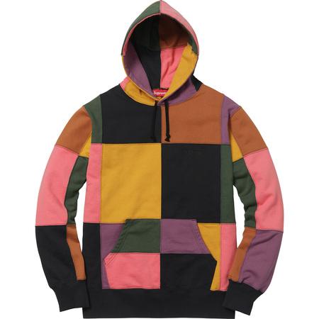 Patchwork Hooded Sweatshirt (Black)