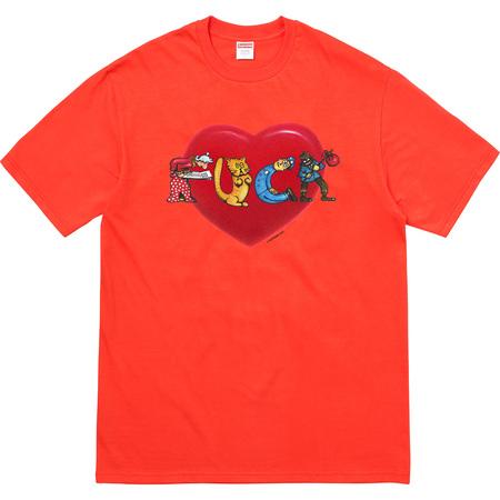 Heart Tee (Bright Orange)