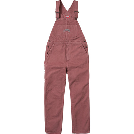 Washed Denim Overalls (Dusty Rose)