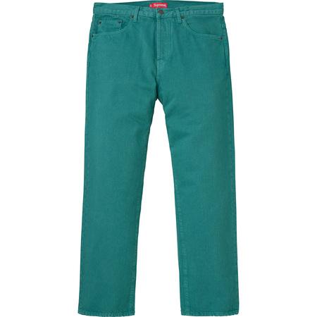 Washed Regular Jeans (Teal)
