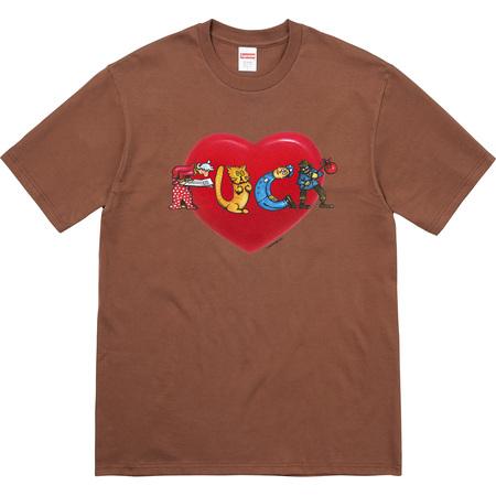 Heart Tee (Brown)