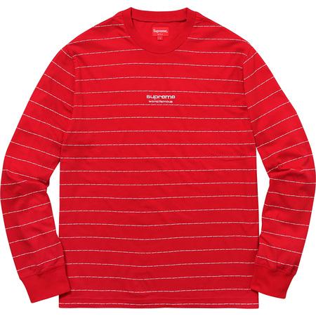 Logo Stripe L/S Top (Red)