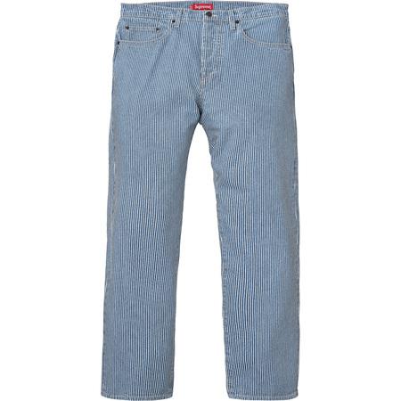 Washed Regular Jeans (Hickory Stripe)