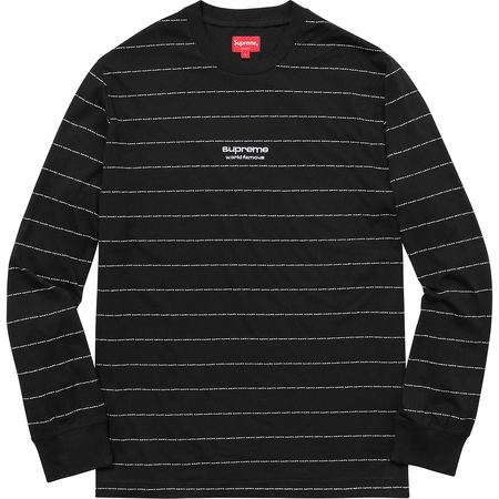 Logo Stripe L/S Top (Black)