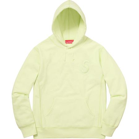 Tonal S Logo Hooded Sweatshirt (Pale Lime)